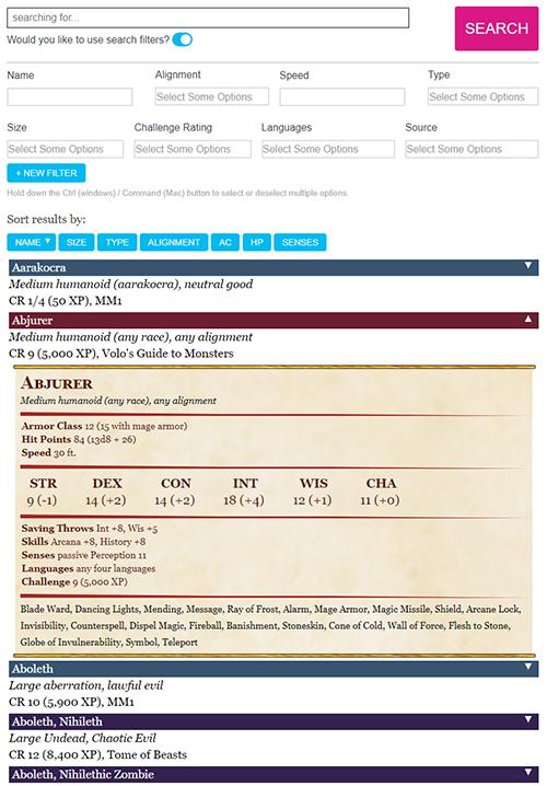 Compendium - Roll20 Wiki