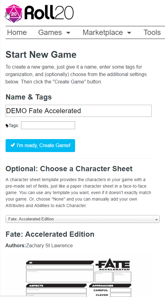 Running Fate Accelerated on Roll20 - Roll20 Wiki