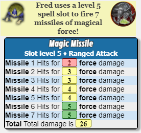 Magic Missile Script Output