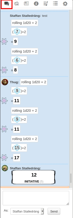 Text Chat - Roll20 Wiki