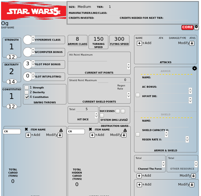 StarWars5E-Sheet - Roll20 Wiki
