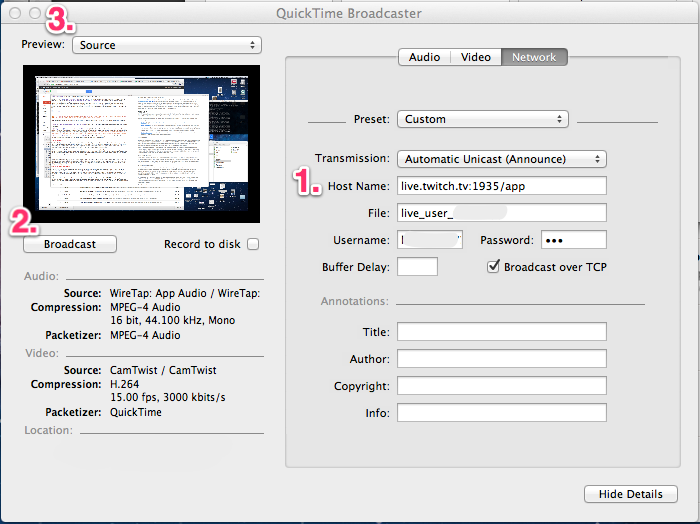Quicktime Broadcaster Network Settings.png