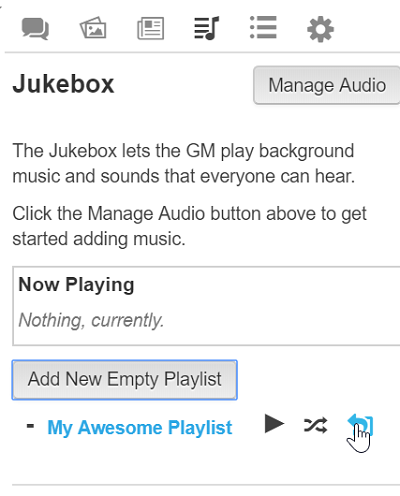 Jukebox - Roll20 Wiki