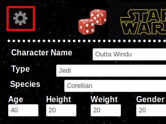 Star Wars WEG D6 character sheet - Roll20 Wiki