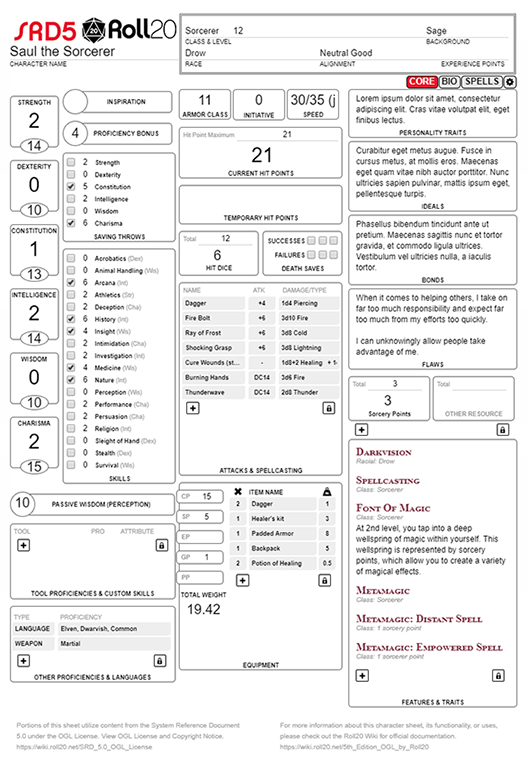 5th Edition Ogl By Roll20 Roll20 Wiki